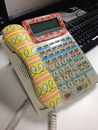 電話をデコレーション