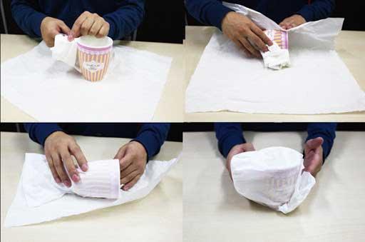 ティーカップ、マグカップの梱包方法