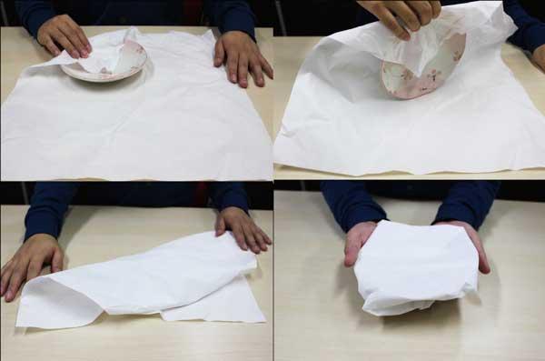 皿の梱包方法