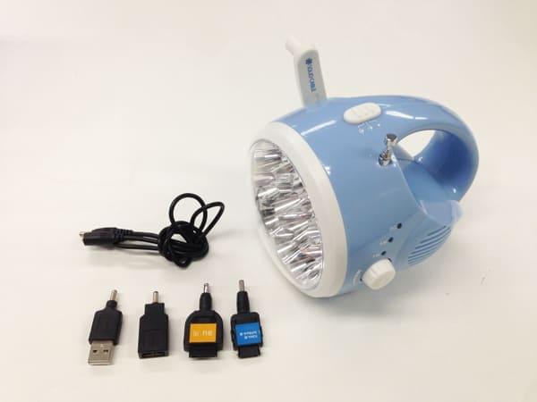 携帯電話充電ダイナモ多機能ライト